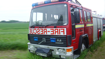 UK fire engine to Israel