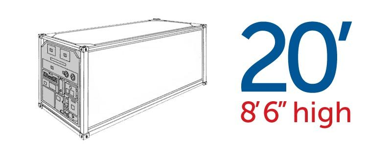 Refrigerated Container (Temperature Controlled Container) 20′