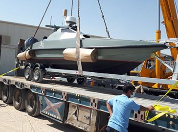 Saudi Royal Navy boat shipment to Saudi Arabia by road