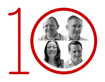 Team members celebrate 10 years at Allseas