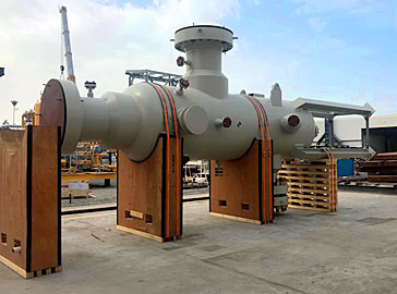 Multi Cyclone Gas Filter Vessels from UAE to Russia